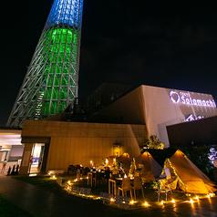東京スカイツリータウンRの庭 空とグランピングとBBQの写真