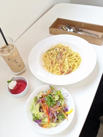 …pasta set ペペロンチーノ/カルボナーラ…