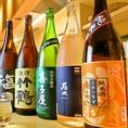 希少な日本酒、ワイン、シャンパンも豊富に取り揃えております。