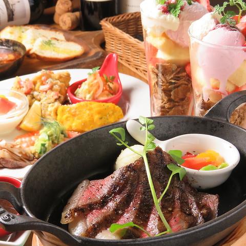肉好きの為の肉好きに贈る肉バル『モック』。女子会コースが2000円(税込)