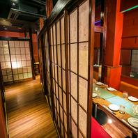 新宿駅徒歩1分!!雰囲気満点の全席扉付き完全個室♪