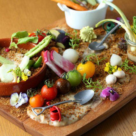 "【yummy's menu ""#8""】農園野菜のバーニャカウダなど全7品6000円!"