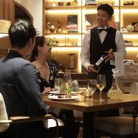 ソムリエがお料理に合わせたワインをご提案致します。