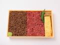料理メニュー写真肉屋の食べ比べ弁当(日替わり)
