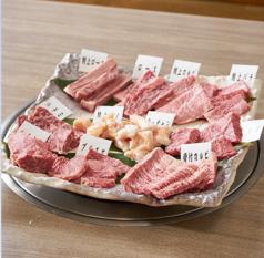 【3~4名様用】当店オススメ特上肉11種焼き野菜付◎たけしょくセット