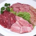 料理メニュー写真■ファミリーセットB和牛カルビ・ロース・タン・鶏モモの盛合せ4人前