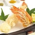 季節の魚介や野菜など他では珍しい変わり種天婦羅が多数ございます♪
