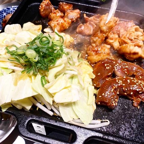 焼肉ホルモン【ばさろコース】1人前からOK♪メニューから選ぶ10種類のお肉+〆の焼きそば1980円!