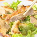 料理メニュー写真若鶏のもも焼き 油淋鶏(ユーリンチー)ソース