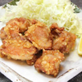 料理メニュー写真にし家名物 若鶏の唐揚げ