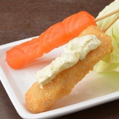 【魚介串カツ】サーモン
