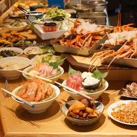 食べ放題に含まれる一品料理の数々♪