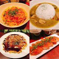 おつまみ料理はもちろん、ご飯ものや〆の麺類も♪