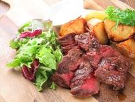 お肉料理も充実♪日頃、頑張ってるご褒美に!