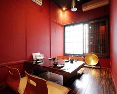 2F 完全個室4名座敷1卓ございます。※こちらはチャージ料お一人様1000円いただいております。