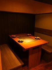 新しくできたテーブルのボックス席