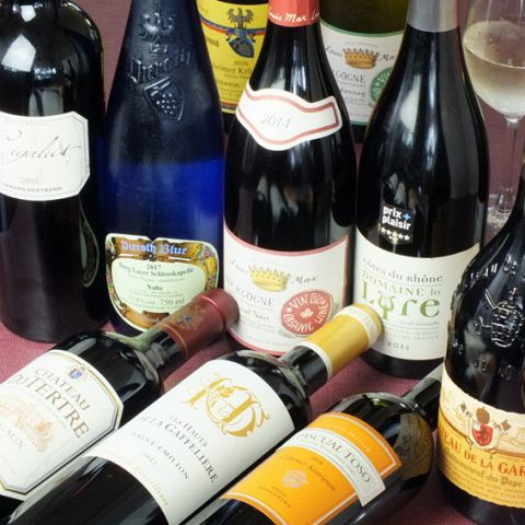 落ち着いた空間、心地よい接客、自慢の料理でおもてなしいたします。 ワインも豊富にご用意しております。コースと一緒に是非お楽しみください♪