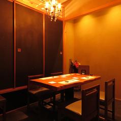 2名~4名様のテーブル席の個室です。