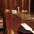 【カウンター席】横並びに座れるのでカップルやご夫婦にもオススメのお席です。