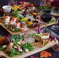 料理メニュー写真食材にこだわったコース料理をお楽しみ下さい。