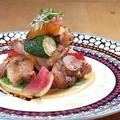料理メニュー写真越の鶏の石窯焼き