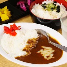 【御飯もの】カレー、お茶漬けカレーは揚げた串ネタをトッピング!!