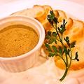 料理メニュー写真鶏レバーのクロスティーニ