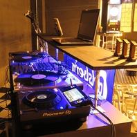 DJブース等、音楽設備が充実!