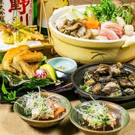 宮崎産ブランド地鶏【日向鶏】を使用した創作料理が自慢