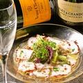 料理メニュー写真真蛸のカルパッチョ ビネグレットソース