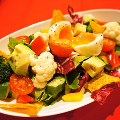 ごろごろ野菜と半熟卵のコブサラダ