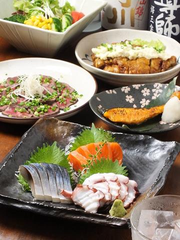 和風創作料理とこだわりのお酒でまったりお過ごしください・・