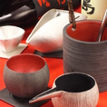 佐賀の陶芸家に特別に作っていただいた、こだわりの食器と焼酎