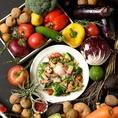 市場直送の新鮮なお野菜やお魚を使用しております♪
