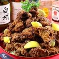 料理メニュー写真鶏の唐揚げ(スタンダード・カレー・マヨ南蛮)