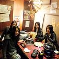 今日はお鍋で女子会♪→
