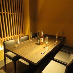 6人席使用の完全個室。接待、会社宴会などにおすすめです。