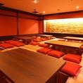 店内の総席数は180席!1室貸切は最大48名様でご利用可能なお部屋もございます!