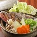料理メニュー写真旬の魚の和風姿鍋
