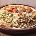 料理メニュー写真三種のトルティアピザ