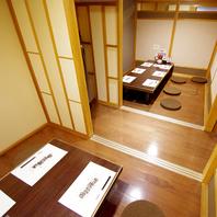 個室のお部屋も、最大で50人までの宴会にも対応!