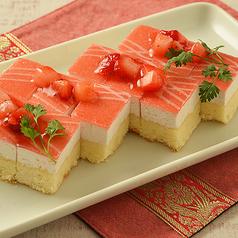 苺のカットケーキ