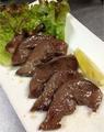 料理メニュー写真豚の心臓ステーキ