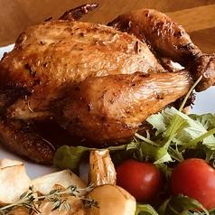 料理メニュー写真若鶏の丸焼き