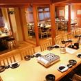 50人まで収容可能なテーブル席