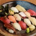 料理メニュー写真寿司盛り合わせ 松(15貫)