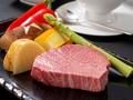 料理メニュー写真鹿児島県産 黒毛和牛ステーキ(焼野菜付き)A4ランク
