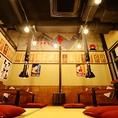 2Fのお座敷は開放的で広々とした空間です。宴会は最大50名様まで対応可能ですので、会社宴会、学生様の宴会、同窓会など各種宴会に対応◎ぜひご連絡ください。店内全面禁煙(店外・屋外に喫煙スペースあり)