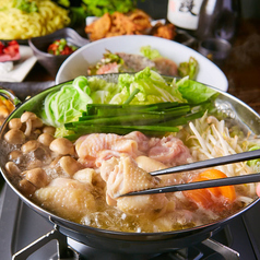 .鶏白湯鍋