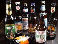 クラフトビールと世界のビールでお出迎え♪